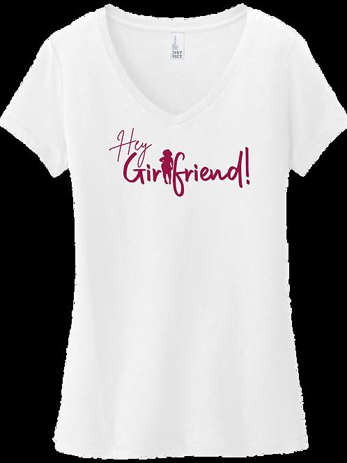 Hey Girlfriend!   Ethnic Sista V-Neck T-Shirt