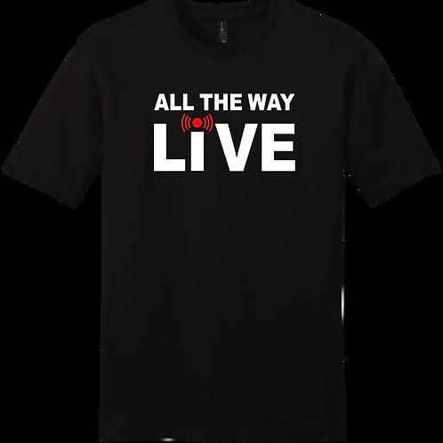 All The Way Live T-Shirt - Black