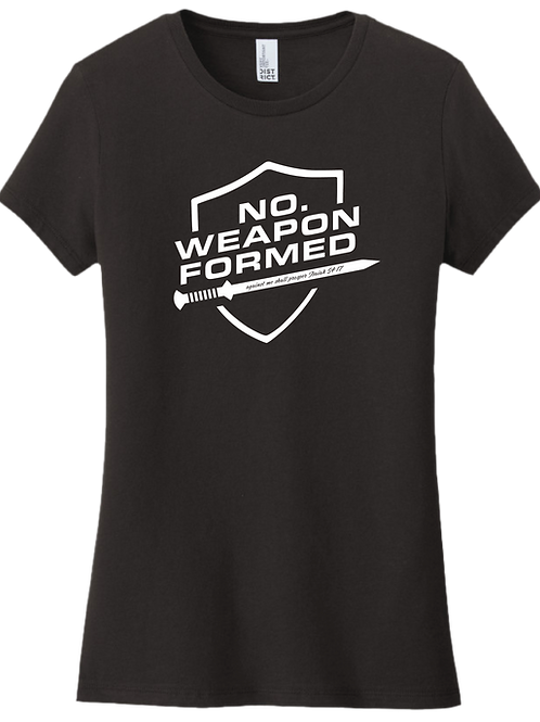 No Weapon Formed Female T-Shirt - Black
