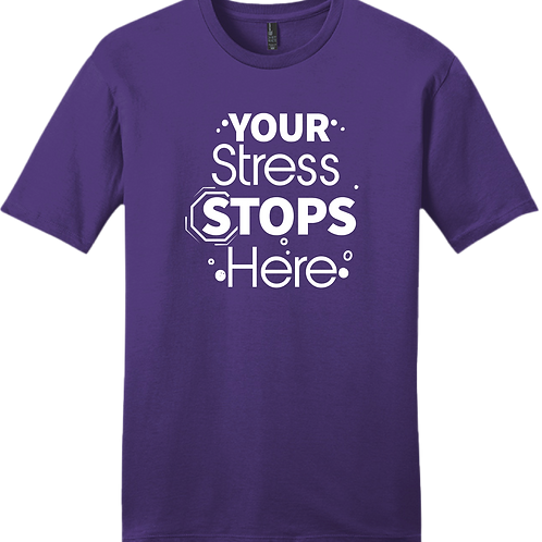 Your Stress Stops Here T-Shirt - Purple