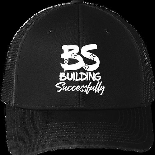 BS Puzzle Snapback Trucker Hat - Black