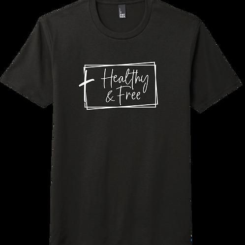 Healthy & Free w/ Cross T-Shirt - Black