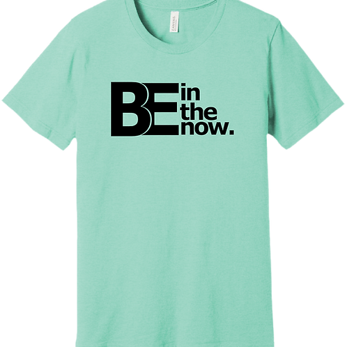 Be In The Now T-Shirt - Heather Mint