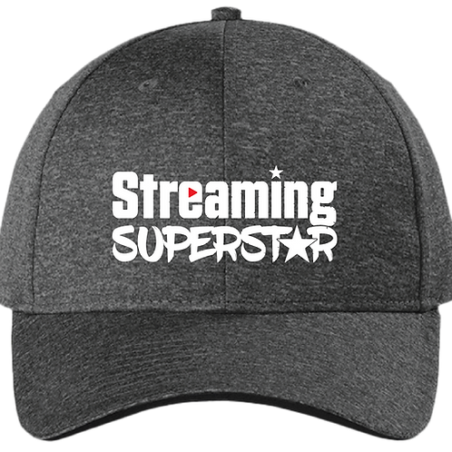 Streaming Superstar - Conteder Snapback Cap - Graphite Heather/ Black