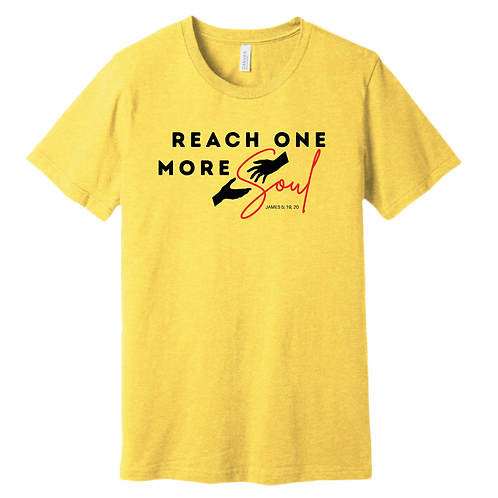 Reach One More Soul T-Shirt - Heather Yellow