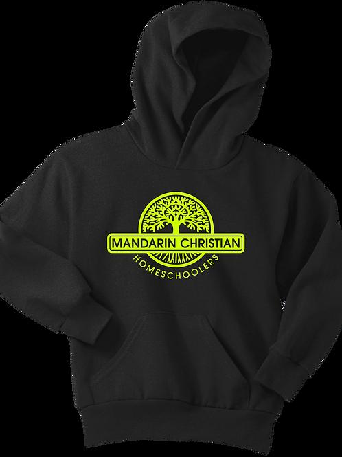 Mandarin Christian Home Schoolers Youth Fleece Hoodie - Black