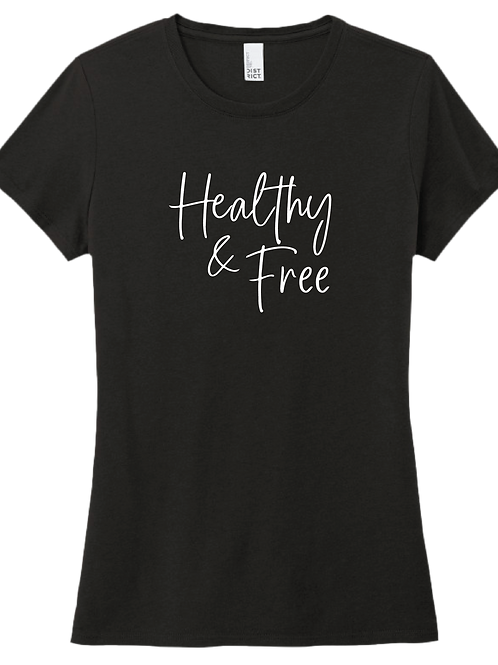 Healthy & Free Ladies T-Shirt - Black