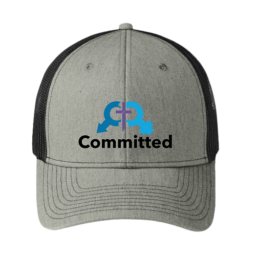 Committed   Trucker Hat - Heather Grey/ Black