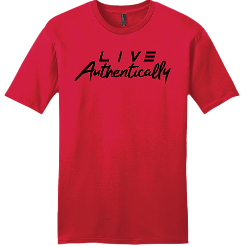 Live Authentically T-Shirt - Red