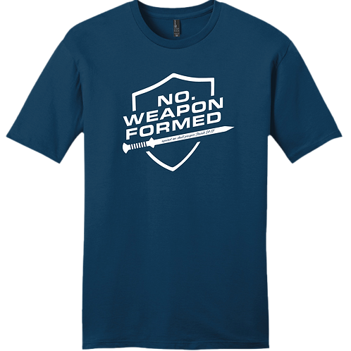 No Weapon Formed T-Shirt - Blue
