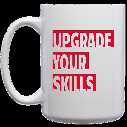 Upgrade Your Skills 15 oz. Large El Grande Mug - White