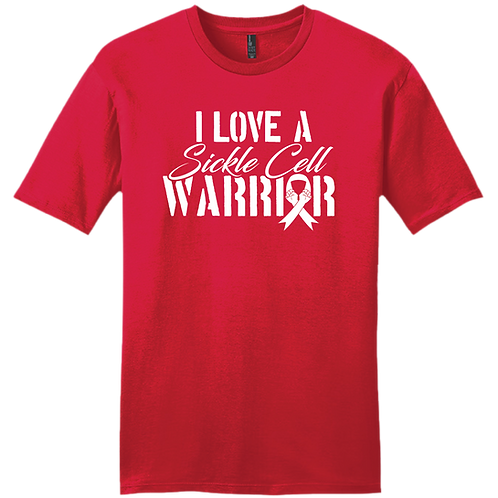 I Love A Sickle Cell Warrior T-Shirt - Red