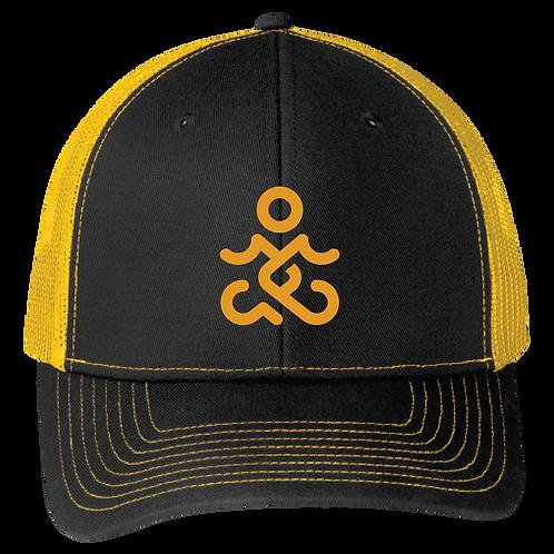 CTY Logo Snapback Trucker Hat - Black/ Gold