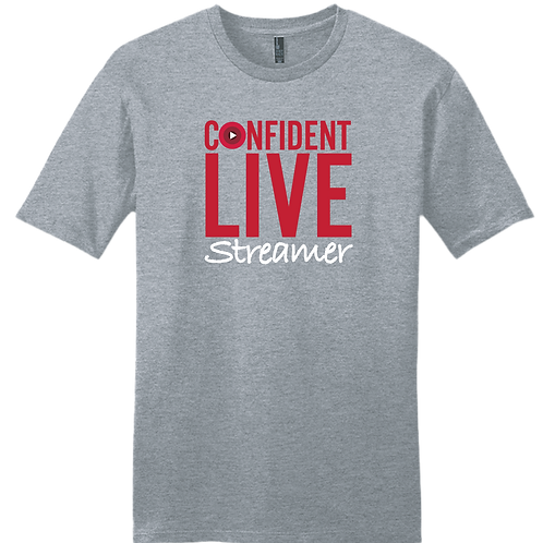 Confident Live Streamer T-Shirt - Grey Frost