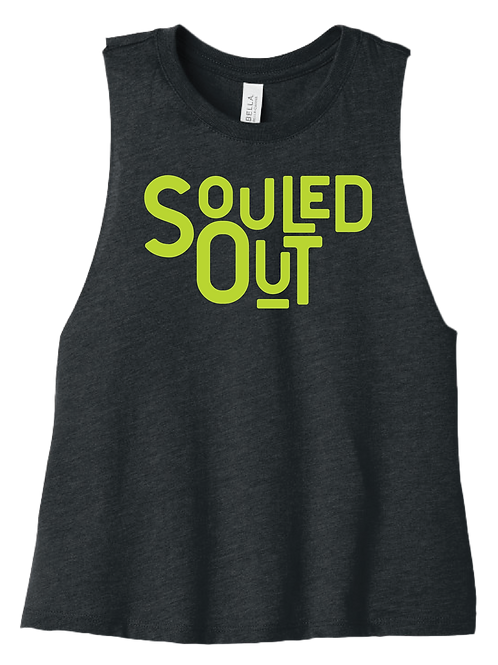 Souled Out Racerback Cropped Tank - Dark Heather Grey