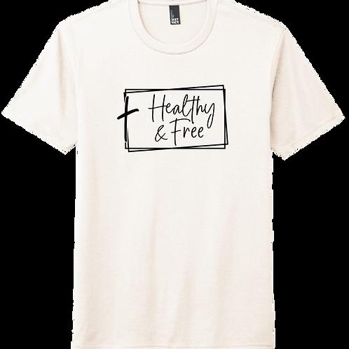 Healthy & Free w/ Cross T-Shirt - Natural