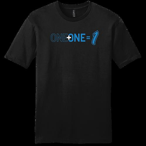 One + One = 1 | T-Shirt - Black