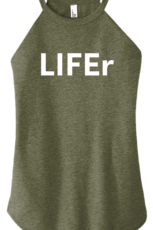 LIFEr Ladies Tank - Military Green Frost