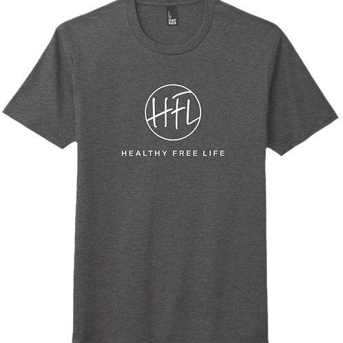 Healthy Free Life T-Shirt - Heather Charcoal