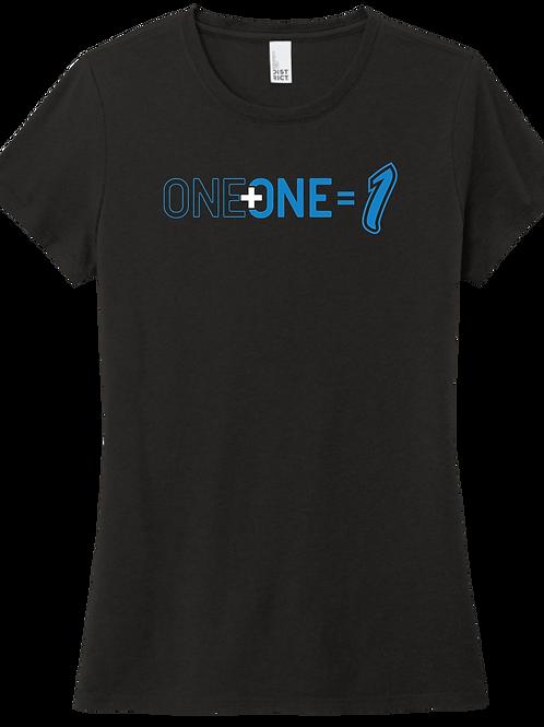 One + One = 1 | Ladies T-Shirt - Black