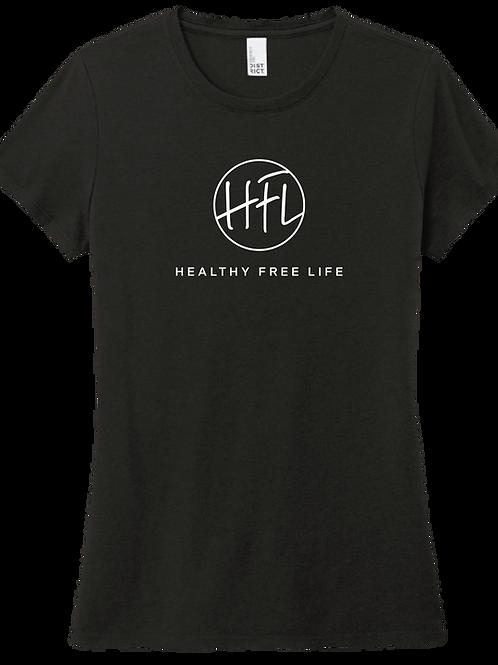 Healthy Free Life Ladies T-Shirt - Black