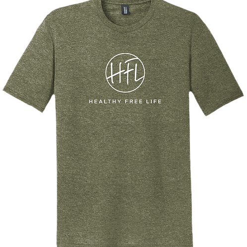 Healthy Free Life T-Shirt - Military Green Frost