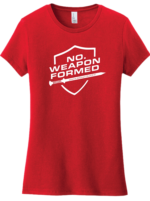 No Weapon Formed Female T-Shirt - Red