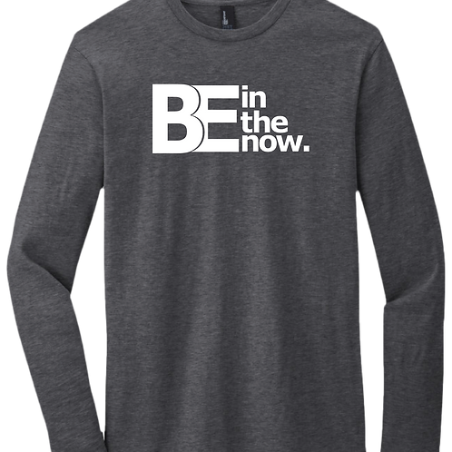 Be In The Now - Long Sleeve T-Shirt - Heather Charcoal