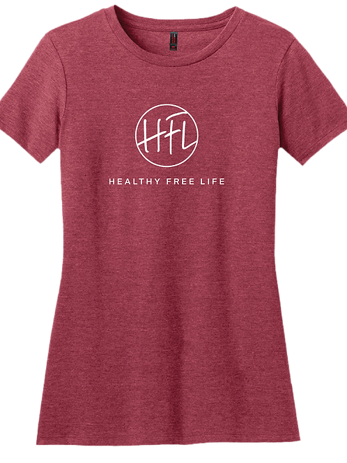 Healthy Free Life Ladies T-Shirt - Heather Red
