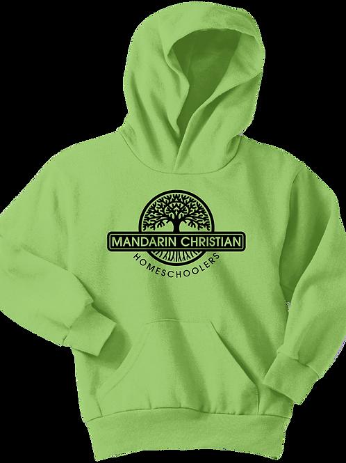 Mandarin Christian Home Schoolers Youth Fleece Hoodie - Lime