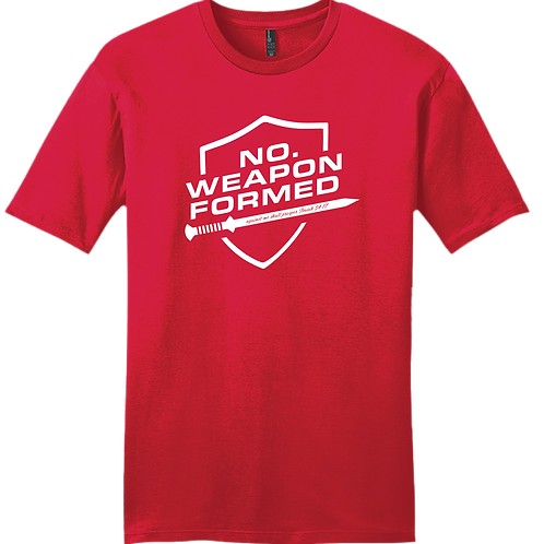 No Weapon Formed T-Shirt - Red