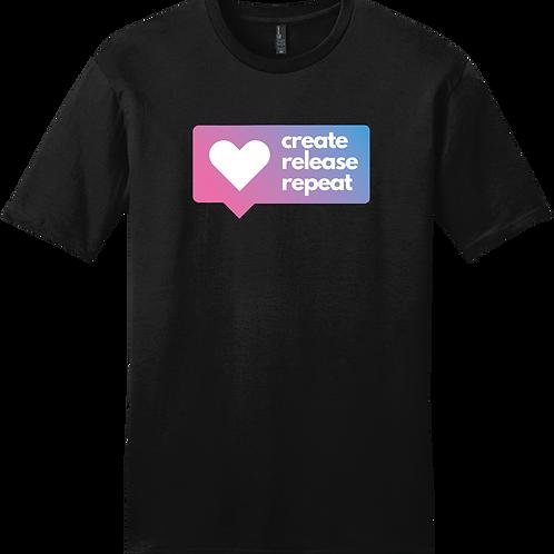 Create, Release, Repeat Post T-Shirt - Black