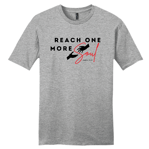 Reach One More Soul T-Shirt - Heather Grey