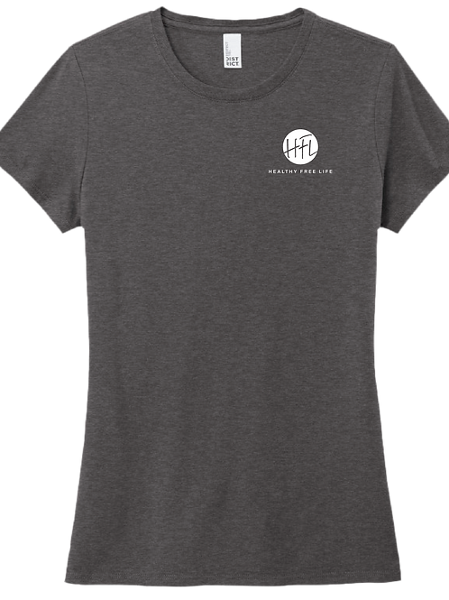 HFL Left Chest Ladies T-Shirt - Heather Charcoal