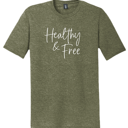 Healthy & Free T-Shirt - Military Green Frost