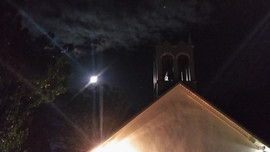 Full Moon during Christmas Eve Service 2015