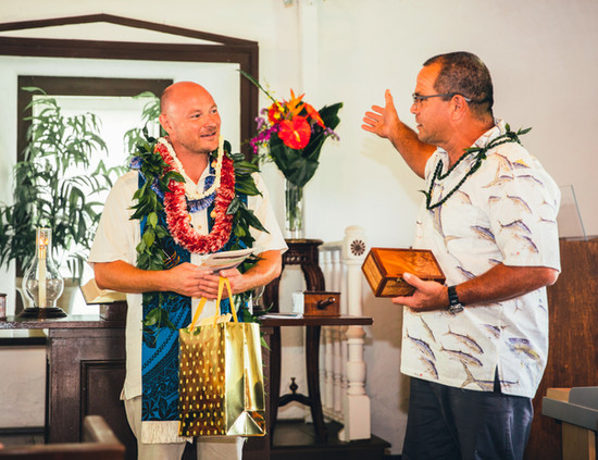 Gifts from Rev David Blevins, Imiola UCC, Waimea