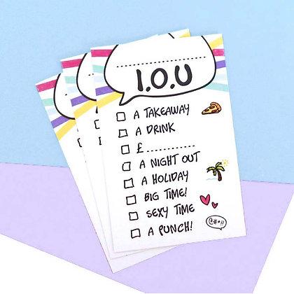 I.O.U CARDS