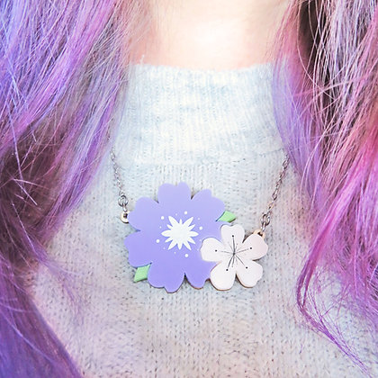 Flower Necklace or Brooch (Large) LL