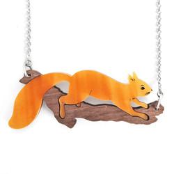Acrylic Squirrel Necklace 1 - Lynsey Luu