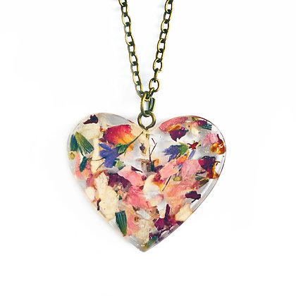 DRIED FLOWERS - HEART NO.3