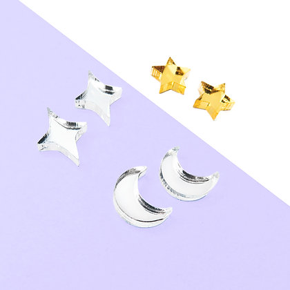 CELESTIAL EARRINGS - MIRROR
