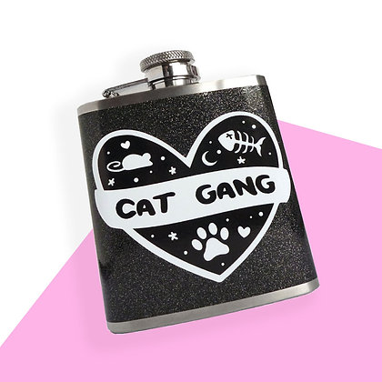 CAT GANG 3OZ HIP FLASK
