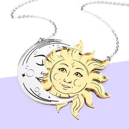 La Lune & Le Soleil Necklace or Brooch - Large LL