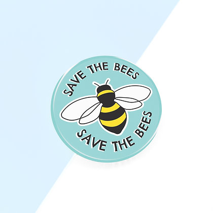 38MM SAVE THE BEES BUTTON BADGE