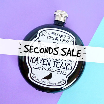 SECONDS EXTRACT OF RAVEN TEARS 5OZ HIP FLASK