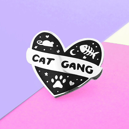 CAT GANG PIN BADGE