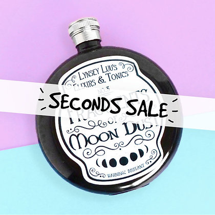 SECONDS FRAGMENTS OF MOON DUST 5OZ HIP FLASK