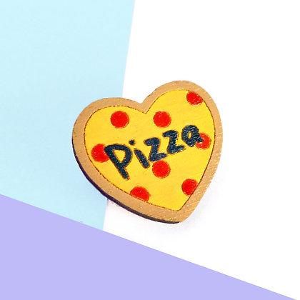 I LOVE PIZZA BADGE