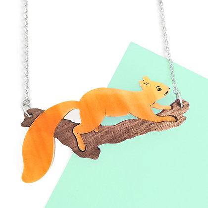 Squirrel Necklace or Brooch LL